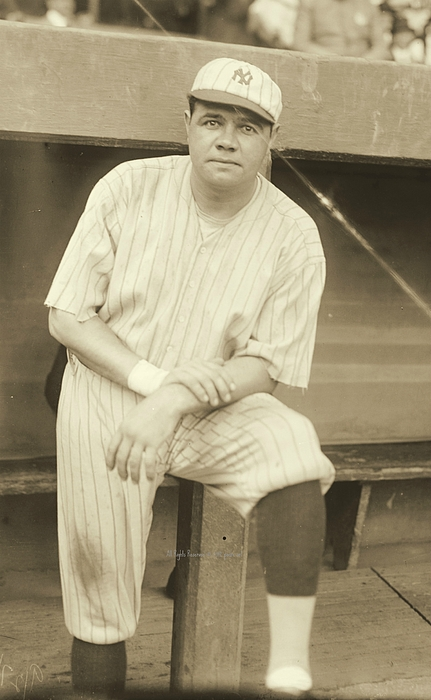 Babe Ruth Posing Photograph - Babe Ruth Posing by Padre Art