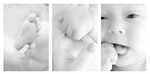 Adorable Photograph - Baby Details by Jaroslaw Grudzinski