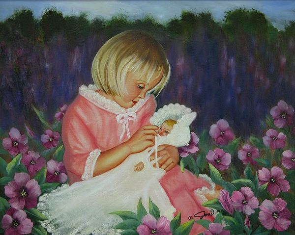 Portrait Painting - Baby  Doll by Joni McPherson