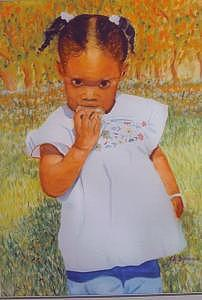Baby Girl Painting by Leonard R Wilkinson