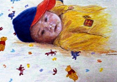 Baby Painting - Baby Ryan by Sharon Casavant