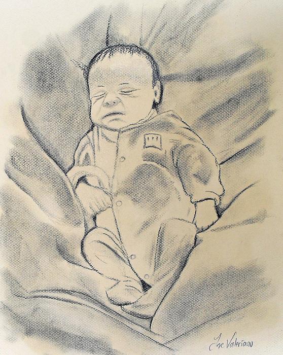 Baby Pastel - Baby Sleeping by M Valeriano
