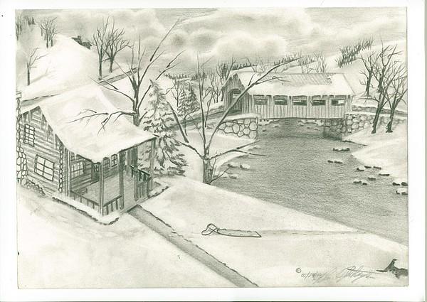Landscape Drawing - Back In Time by Wanda Alberta