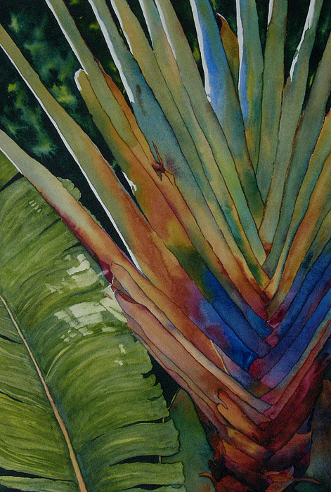 Tropical Painting - Back To Key West by Judy Mercer