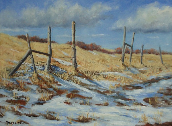Landscape Painting - Back To Open Range by Debra Mickelson