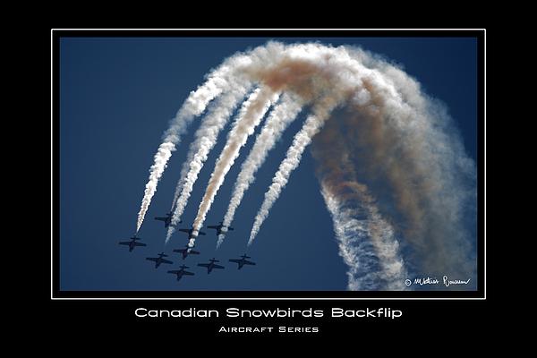Canadian Snowbirds Photograph - Backflip by Mathias Rousseau