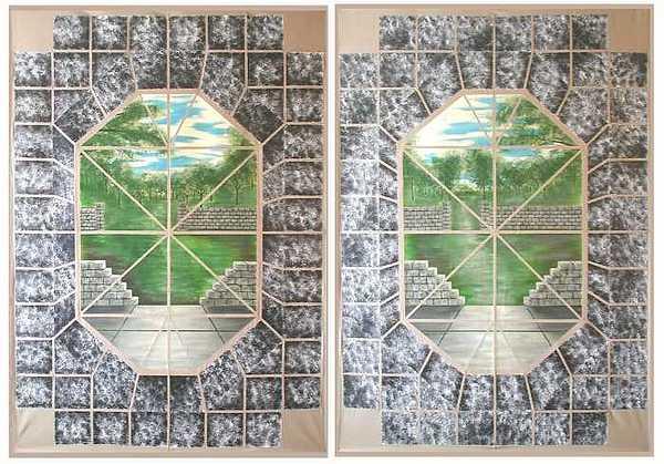 3d Painting - Backyard Granite Patio Tapestries by Michael Johnson