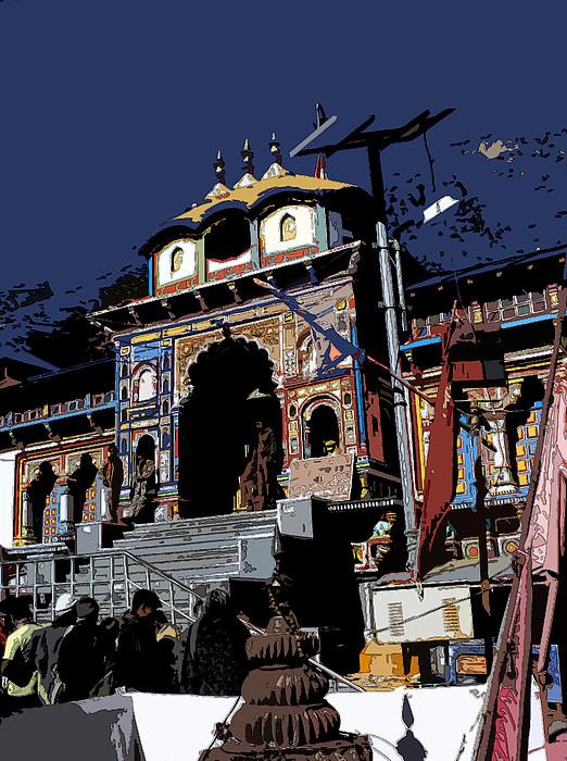 Temple Photograph - Badrinath Temple 1 by Padamvir Singh