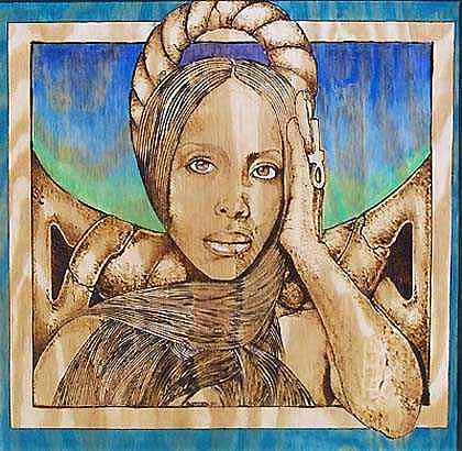 Pyrography Mixed Media - Baduizm by William Burton Jr