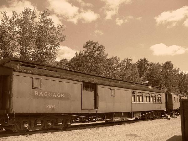 Trains Photograph - Baggage Car by Charles Robinson