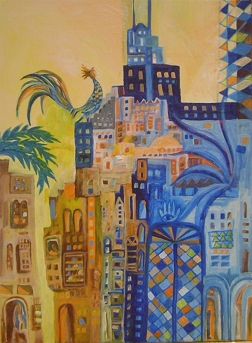 City Land Scape Painting - Baghdad In Dreems 2 by Yahya Batat