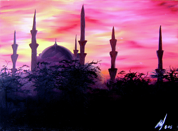 Painting Painting - Baghdad Sunset by Michael McKenzie