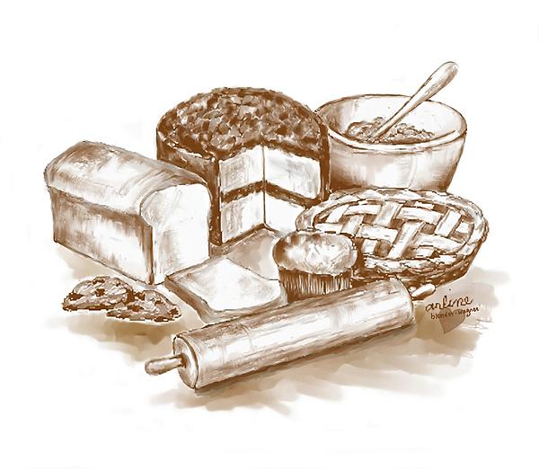 Food Digital Art - Baked Goods by Arline Wagner