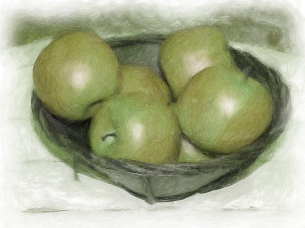 Apples Digital Art - Baking Apples by Susan  Lipschutz