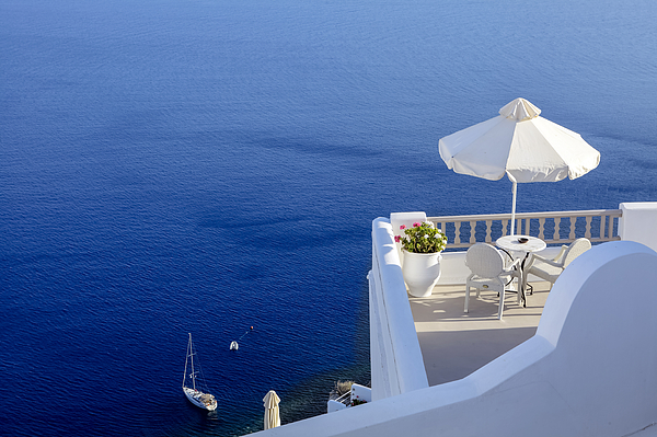 Balcony Photograph - Balcony Over The Sea by Joana Kruse