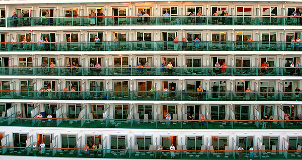 People Photograph - Balcony People by Perry Webster
