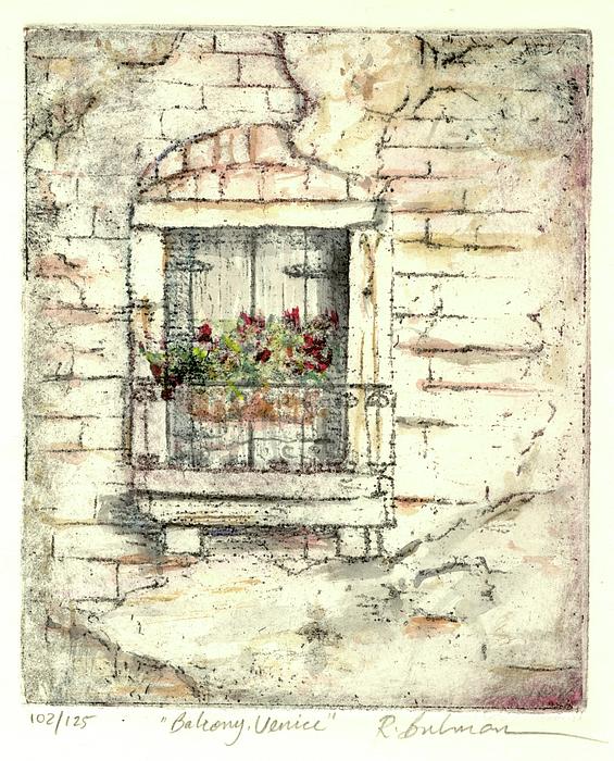 Venice Painting - Balcony Venice by Richard Bulman