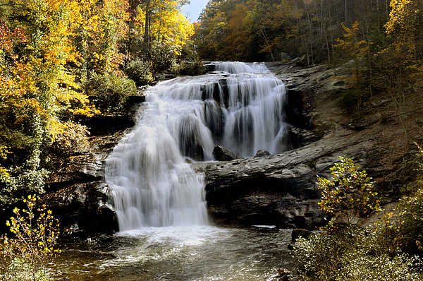Autumn Photograph - Bald River Falls In Autumn by Darrell Young