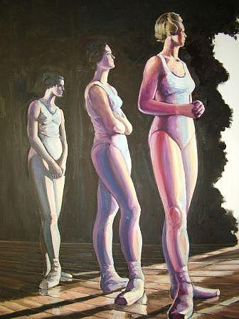 Dancers Painting - Ballerinas by Ken Ray