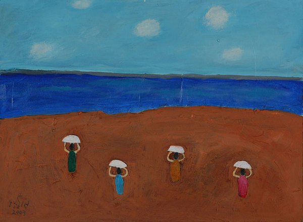Seascape Painting - Ballet In The Sands by Harris Gulko