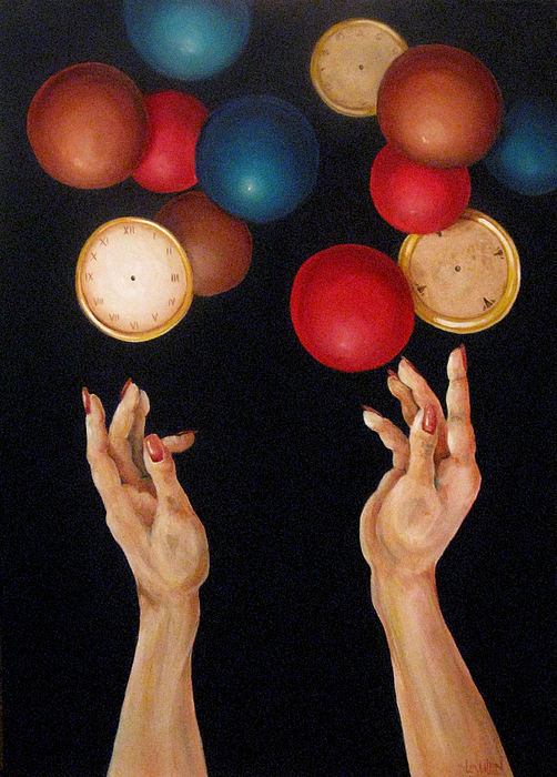 Acrylic Painting - Balls In The Air by Lorraine Ulen