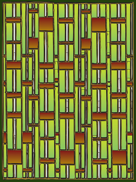 Plants Drawing - Bamboo Overdose  by Marta Podkul