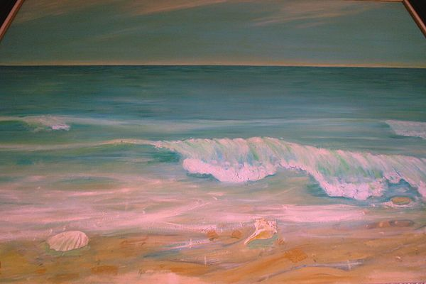 Seascape Painting - Bank by Jess Conde