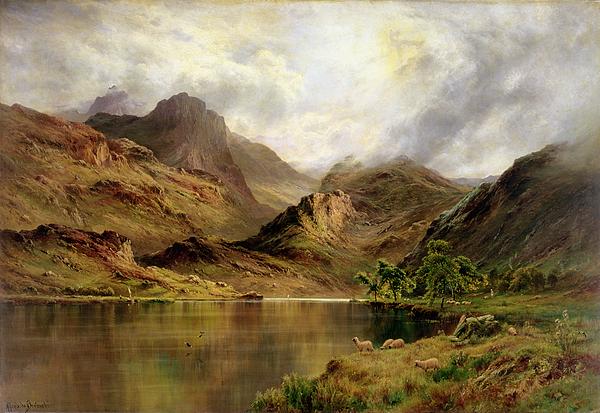 Landscape Painting - Banks Of Arrochar by Alfred de Breanski