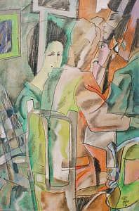 People Painting - Bar Scene by Meiro