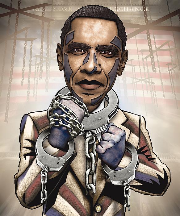 Obama Digital Art - Barack Obama - Stimulate This by Sam Kirk