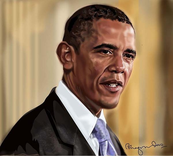 Portrait Digital Art - Barack Obama  by Bhagvan Das