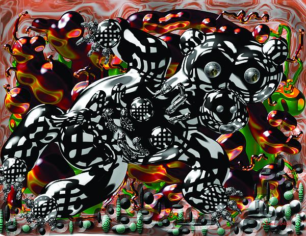 Bare Digital Art - Bare Bear by Marko Mitic