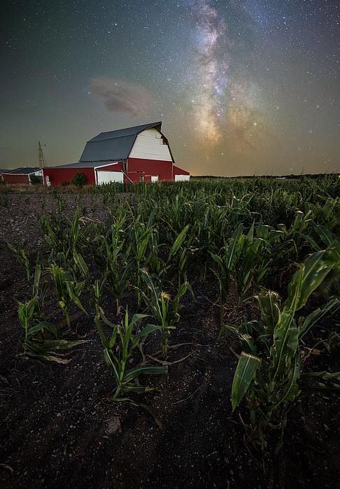 Barn Photograph - Barn Astronomy 2  by Aaron J Groen