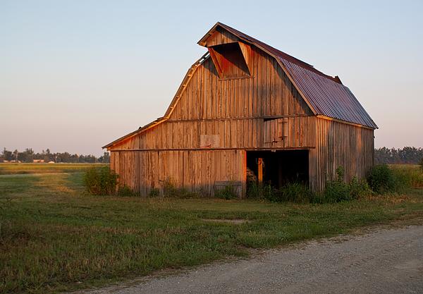 Barn Photograph - Barn At Early Dawn by Douglas Barnett