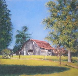 Old Barn Painting - Barn by Rose Baggs