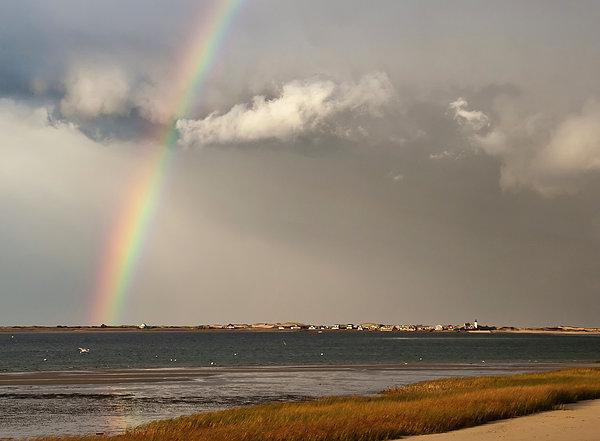 Rainbow Photograph - Barnstable Harbor Rainbow by Charles Harden