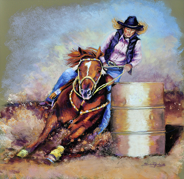 Cowgirl Pastel - Barrel Rider by Susan Jenkins
