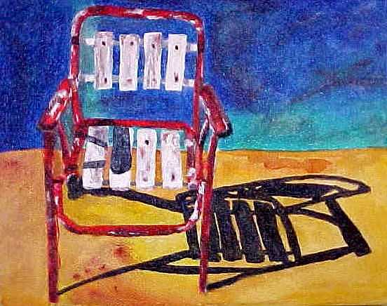 Furniture Painting - Barrio Lawn Chair by Kitty Schwartz
