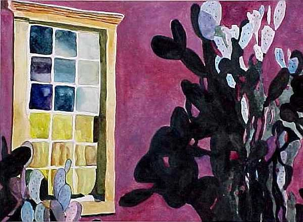 Southwest Painting - Barrio Window by Kitty Schwartz