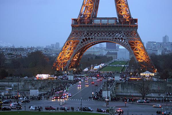 Eiffel Tower Photograph - Base Of Eiffeltower by Erik Tanghe