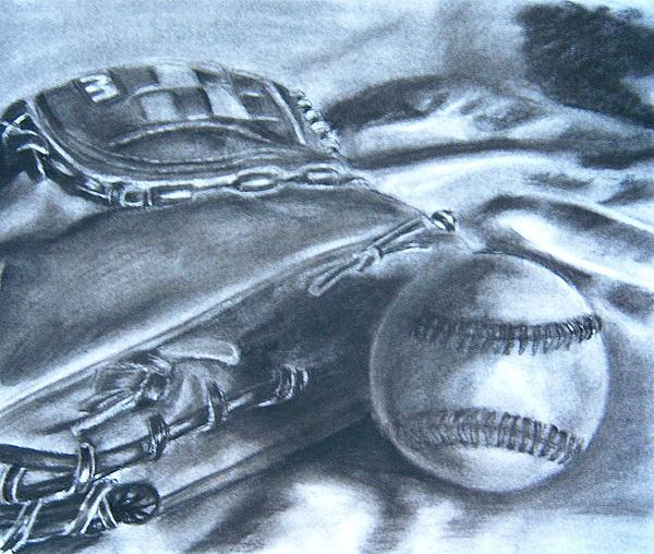 Baseball Drawing - Baseball by Ashlee Terras