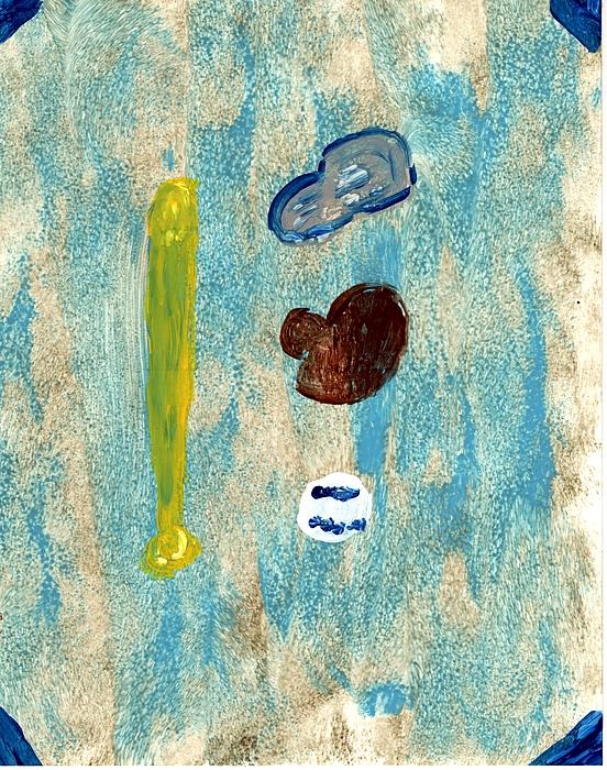 Baseball Painting - Baseball Dreams by Rosemary Mazzulla