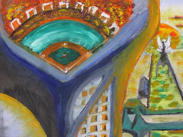 Baseball Painting - Baseball Heaven by Keith Cichlar