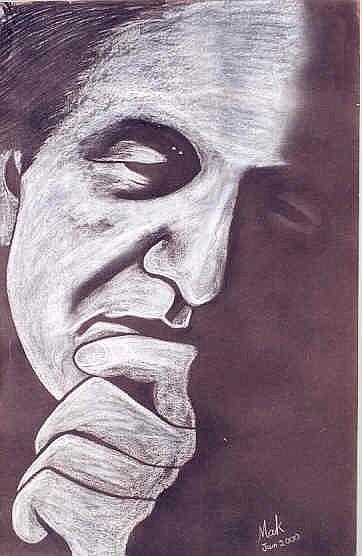 Portrait Painting - Bashir Mirza  by Mak