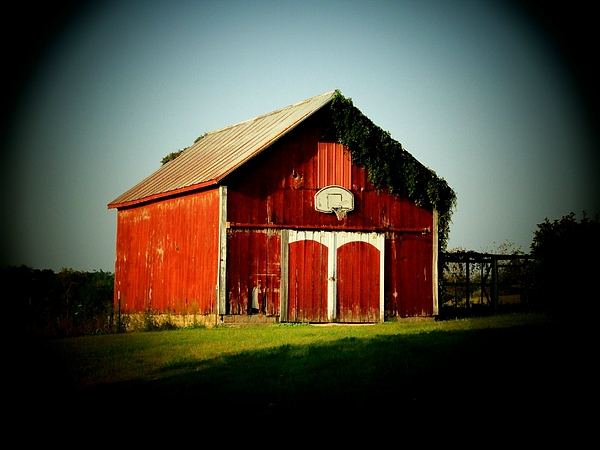 Barn Photograph - Basketball Barn by Michael L Kimble