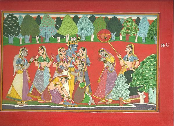 Basohli Miniature Painting  Framed Prints by Gunjan Sharma