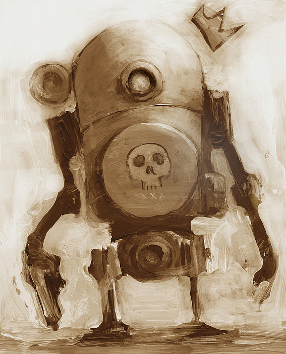 Robot Painting - Basquibot by Matthew Schenk
