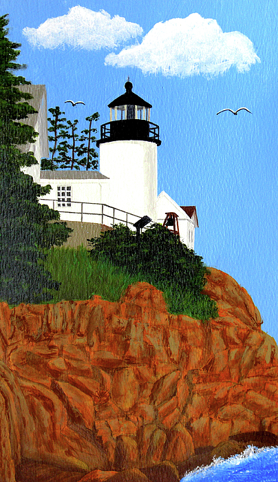 Lighthouse Painting - Bass Harbor Head Lighthouse Painting by Frederic Kohli