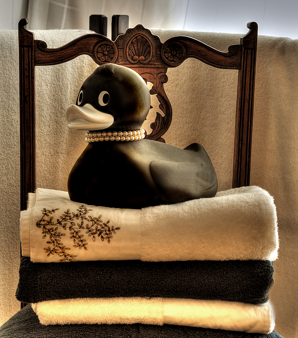 Duck Photograph - Bath Time Buddy  by Sandra Rossouw