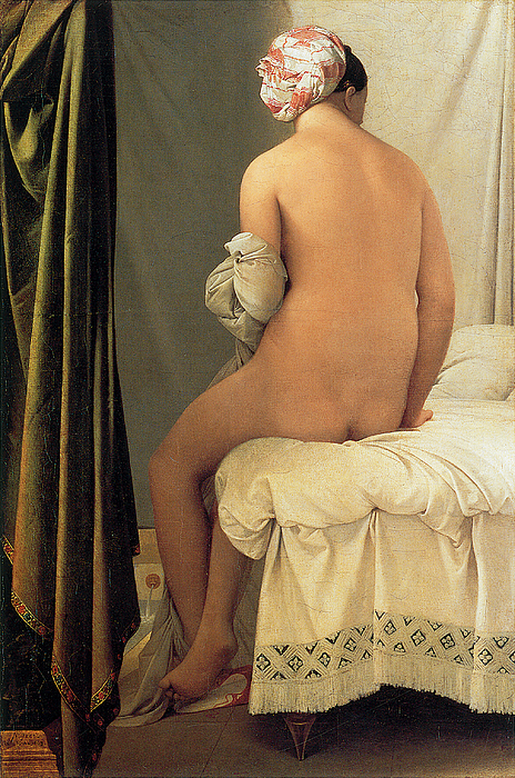 Ingres Painting - Bather Of Valpincon by Jean-August-Dominique Ingres